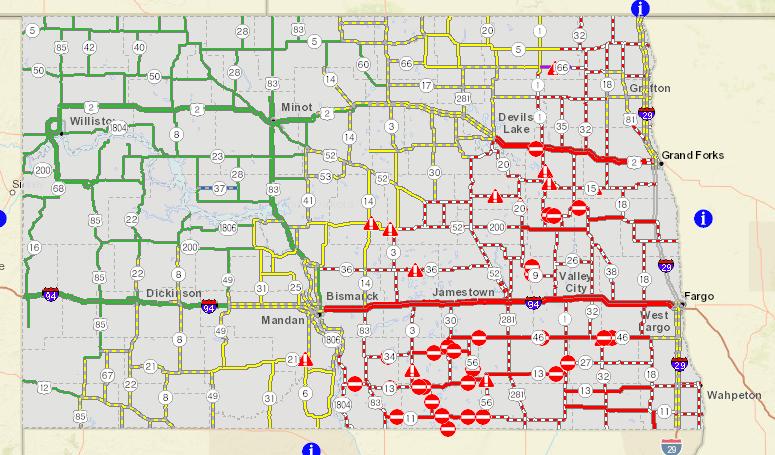 I-29 Open from Fargo to Grand Forks | AM 1100 The Flag WZFG